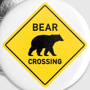 bear crossing Buttons - Buttons large 56 mm