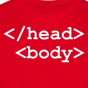 Rouge End of Head Start of Body Hommes - T-shirt Homme