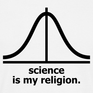 White Science is my religion Men's Tees (short-sleeved) - Men's T-Shirt