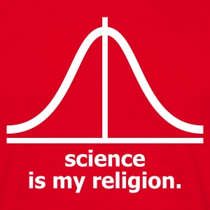 Rojo Science is my religion Camisetas (manga corta) - Camiseta hombre