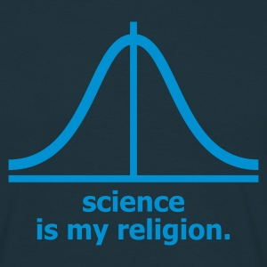 Marineblå Science is my religion T-shirts (kortærmet) - Herre-T-shirt