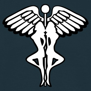 Navy caduceus strippers T-Shirt - Men's T-Shirt