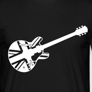 Black union jack guitar T-Shirt - Maglietta da uomo