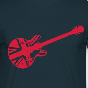 Navy union jack guitar T-Shirt - T-shirt Homme