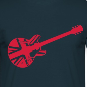 Navy union jack guitar T-Shirt - T-skjorte for menn