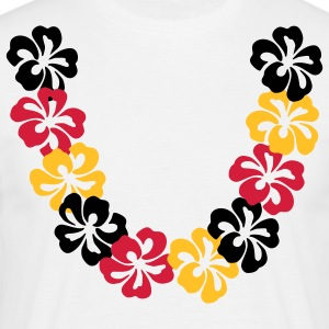 Blanco Neck lace - Hawaii Flower Camisetas (manga corta) - Camiseta hombre