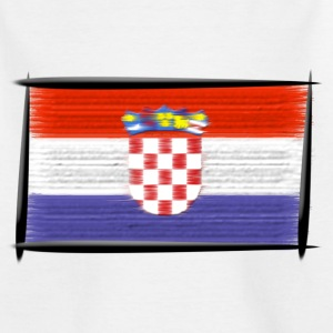 Weiß Art Flagge Kroatien Kinder - Teenager T-Shirt