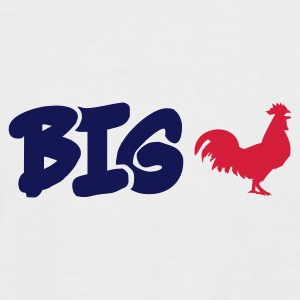Weiß/navy Big Cock T-Shirt - Männer Baseball-T-Shirt