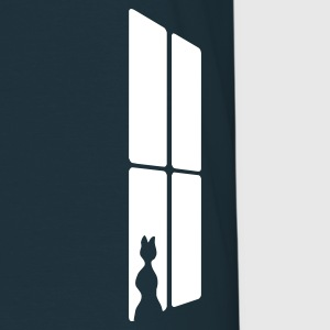 Marinblå Cat at a window T-shirts (kort ärm) - T-shirt herr
