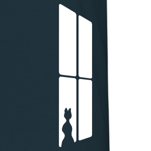 Navy Cat at a window Men's Tees (short-sleeved) - Men's T-Shirt
