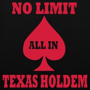 Schwarz Poker - Texas Holdem - All in Accessoires - Stoffbeutel