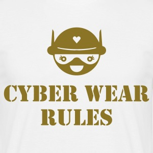 White Cyber Wear Rules Men's T-Shirts - Men's T-Shirt