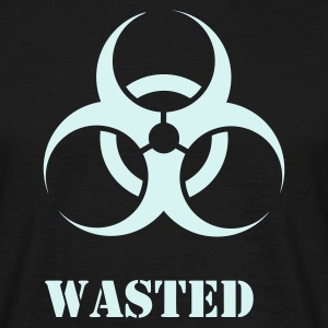 Black Wasted Biohazard Men's T-Shirts - Men's T-Shirt