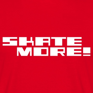 Red Skate More ! Logo Men's Tees (short-sleeved) - Men's T-Shirt