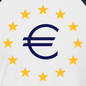 White/navy EU Euro Stars T-Shirts - Men's Baseball T-Shirt