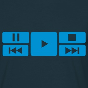 Musique,DJ,Play,Stop,Forward,Rewind,DVD - T-shirt Homme