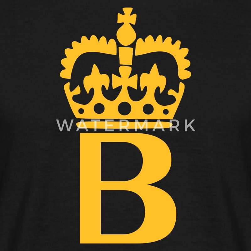 Black B - Crown - Letters T-Shirts - Men's T-Shirt