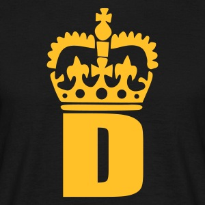 Black D - Crown - Letters T-Shirts - Men's T-Shirt
