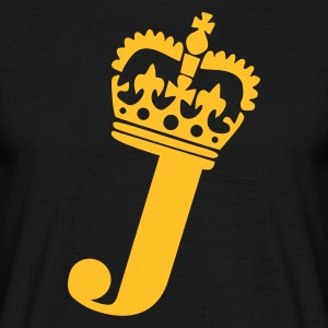 Black J - Crown - Letters T-Shirts - Men's T-Shirt