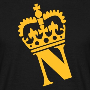 Black N - Crown - Letters T-Shirts - Men's T-Shirt