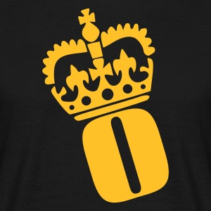 Black O - Crown - Letters T-Shirts - Men's T-Shirt