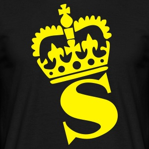 Black S - Crown - Letters T-Shirts - Men's T-Shirt