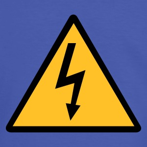 Attention,Symbol,Lightning,Electricity - Men's Ringer Shirt