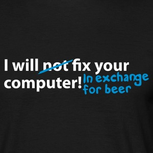 Black computer beer T-Shirt - Mannen T-shirt