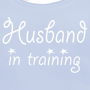 Sky blue Husband in Training (wedding, stag, bachelor, engagement) Juniors - Baby Organic Bib