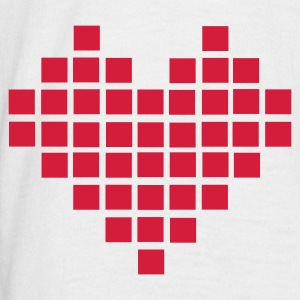 Hvit Heart - Pixel Small T-skjorte - T-skjorte for menn