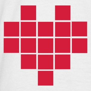 Wit Heart - Pixel Small Heren t-shirts - Mannen T-shirt
