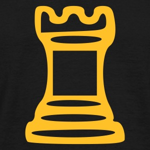 Sort Castle - Chess T-Shirts - Herre-T-shirt
