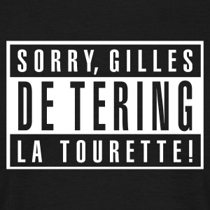 Zwart Tourette In wit plaatsen! Heren t-shirts - Mannen T-shirt