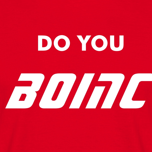 BOINC Red Basic Tee (do you BOINC front; web address back)