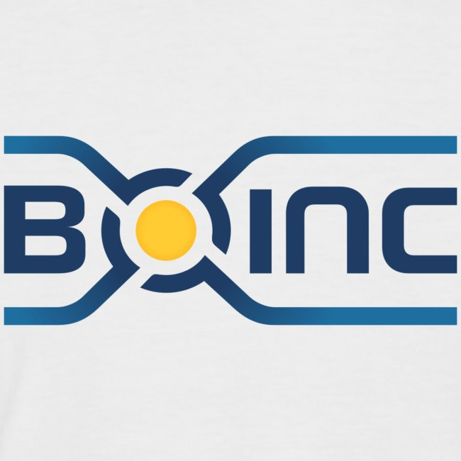 BOINC White/Blue Tee (logo front; more colors!)