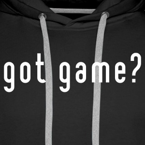Sort got game? basketball Sweatshirts - Herre Premium hættetrøje