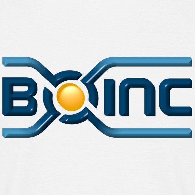 BOINC White Basic Tee (3D logo front)