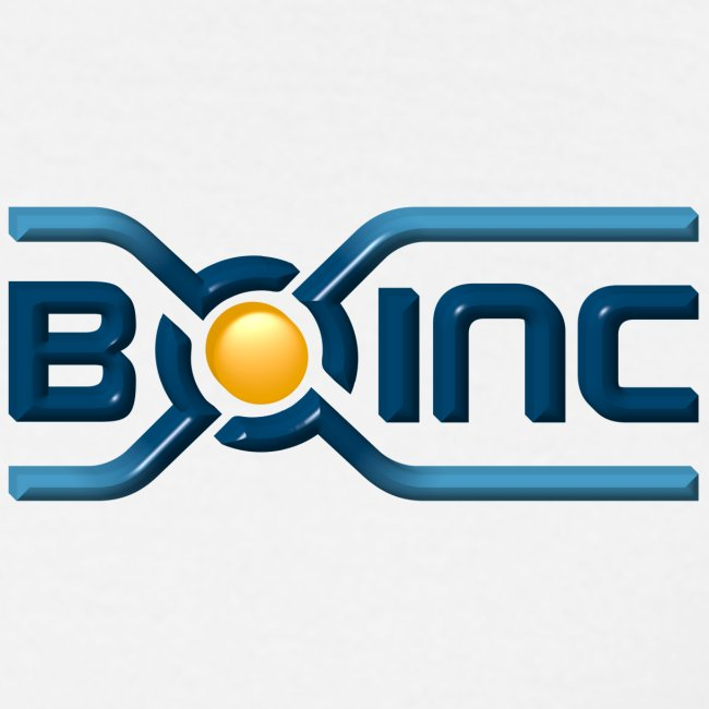 BOINC White Basic Tee (3D logo chest, small)