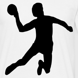 Wit Handball - Volleyball - Sport Heren t-shirts - Mannen T-shirt
