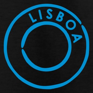 Black Lisboa Postmark Kid's Shirts  - Teenage T-shirt