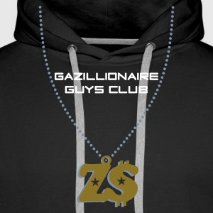 Black Gazillionaire Guys Club, Zimbabwe Jumpers - Men's Premium Hoodie