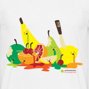 Blanc fruit assassiné Tee shirts - T-shirt Homme