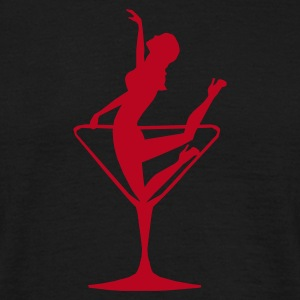 Lady in a Cocktail Glass - Kneeling - Men's T-Shirt