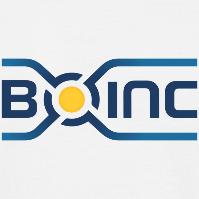 BOINC White Basic Tee (logo front, web address back)