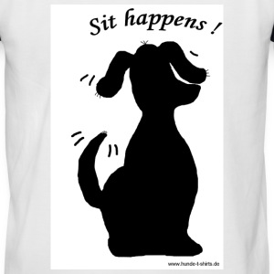 Sit happens - Männer Baseball-T-Shirt