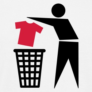 Wit Trash Can T-shirts - Mannen T-shirt