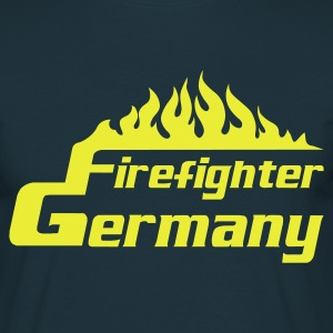 Navy Firefighter Germany T-Shirts - Männer T-Shirt