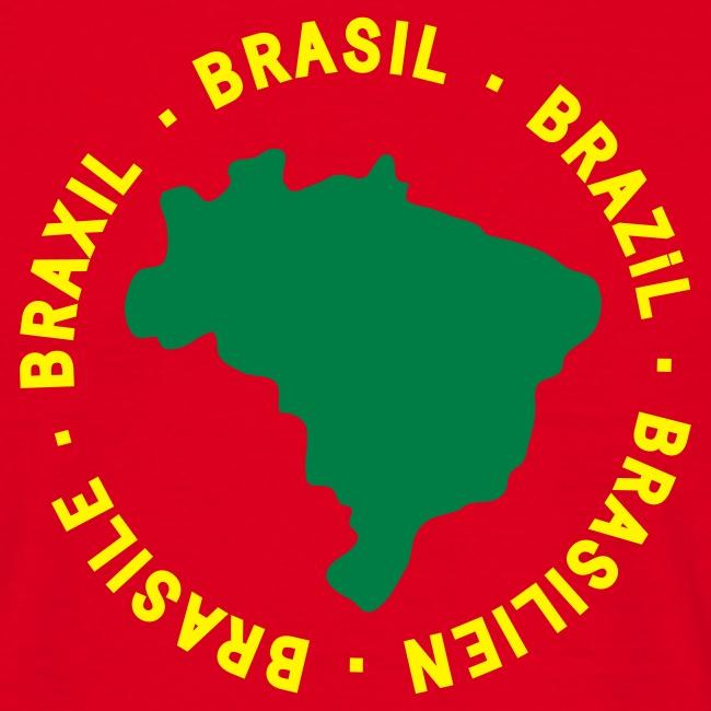 Brasile map - rossa