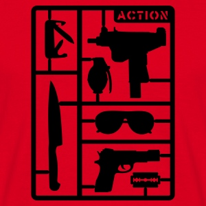 Rood Action Pack T-shirts - Mannen T-shirt
