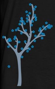 Baum mit blauen blüten